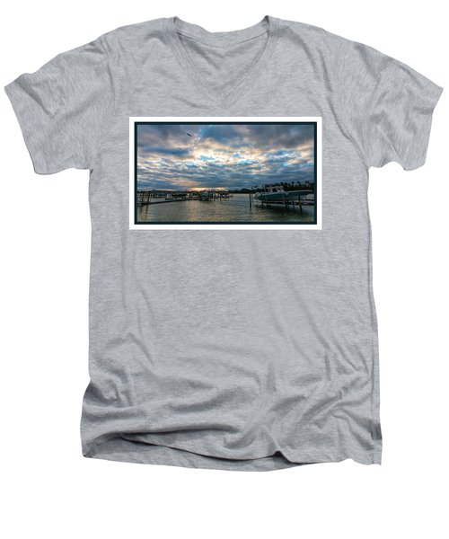 View From Marina Bay Men's V-Neck T-Shirt