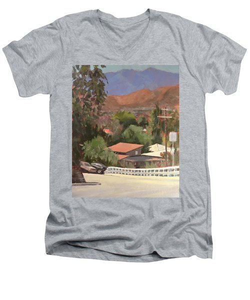 View From Moon Men's V-Neck T-Shirt by Richard Willson