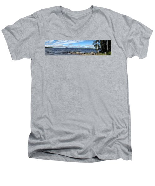 View From My Beach Men's V-Neck T-Shirt