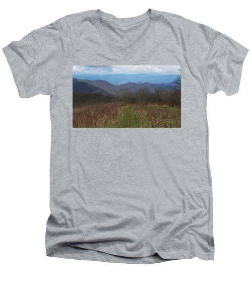View From Silers Bald 2015a Men's V-Neck T-Shirt