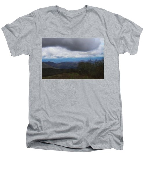 View From Silers Bald 2015b Men's V-Neck T-Shirt