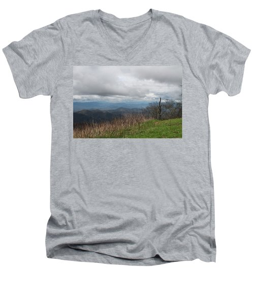View From Silers Bald 2015e Men's V-Neck T-Shirt