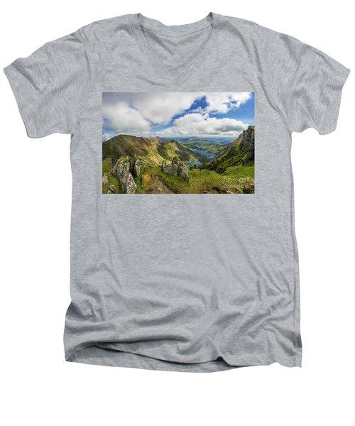 View From Snowdon Summit Men's V-Neck T-Shirt