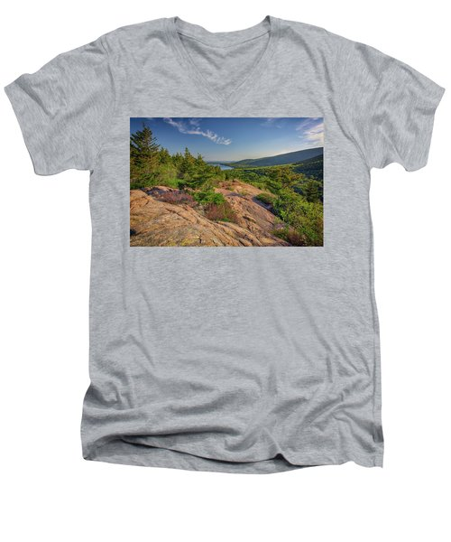 View From South Bubble Men's V-Neck T-Shirt by Rick Berk