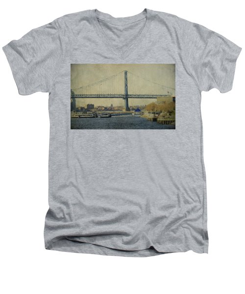 View From The Battleship Men's V-Neck T-Shirt