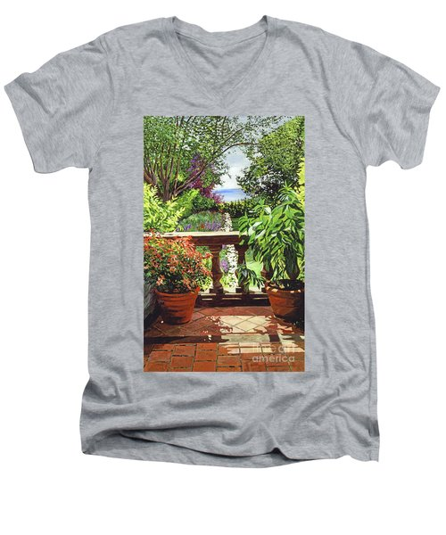 View From The Royal Garden Men's V-Neck T-Shirt