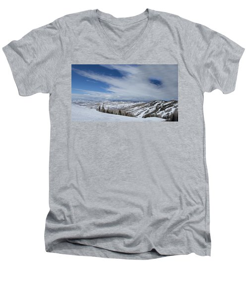 View From The Slope Men's V-Neck T-Shirt