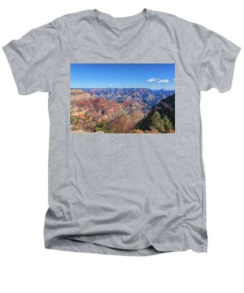 Men's V-Neck T-Shirt featuring the photograph View From The South Rim by John M Bailey