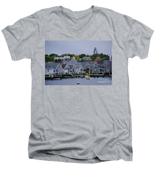 View From The Water Men's V-Neck T-Shirt by Lori Tambakis