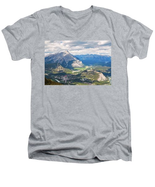 View Of Banff Men's V-Neck T-Shirt
