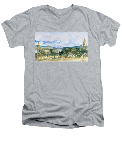 View Of D'entrecasteaux Channel From Birchs Bay, Tasmania Men's V-Neck T-Shirt