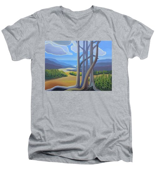 View Of The Lake Men's V-Neck T-Shirt