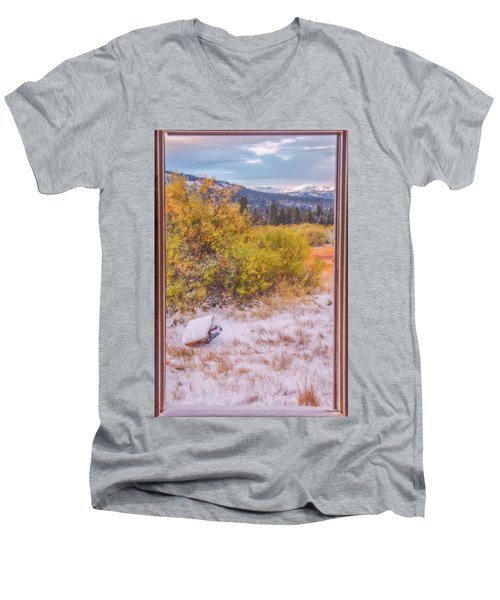 View Out Of A Broken Window Men's V-Neck T-Shirt by Marc Crumpler