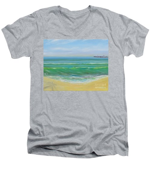 View To The Pier Men's V-Neck T-Shirt
