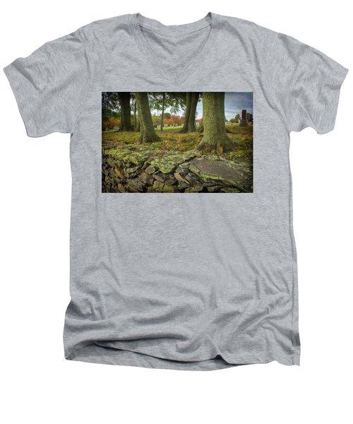 View Toward The Cemetery Men's V-Neck T-Shirt