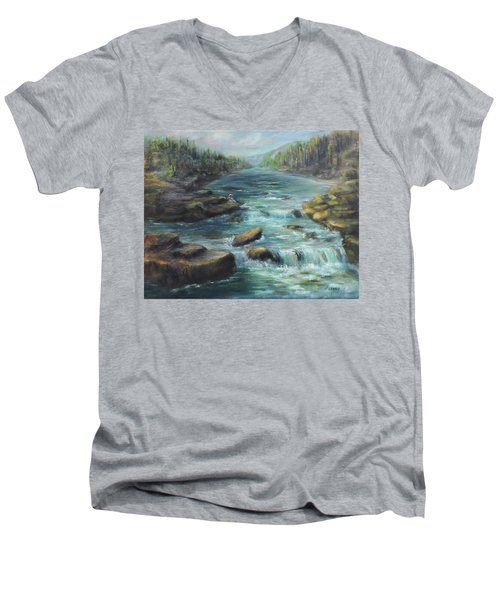 Viewing The Rapids Men's V-Neck T-Shirt