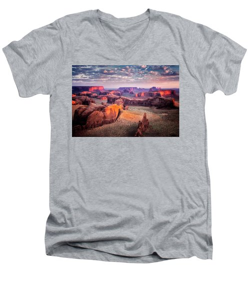 Views From The Edge  Men's V-Neck T-Shirt by Nicki Frates