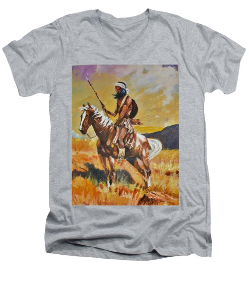 Vigilante Apache Men's V-Neck T-Shirt