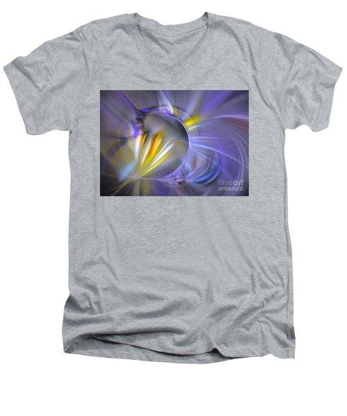 Vigor - Abstract Art Men's V-Neck T-Shirt