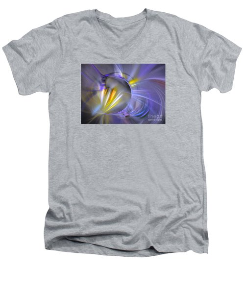Vigor - Abstract Art Men's V-Neck T-Shirt