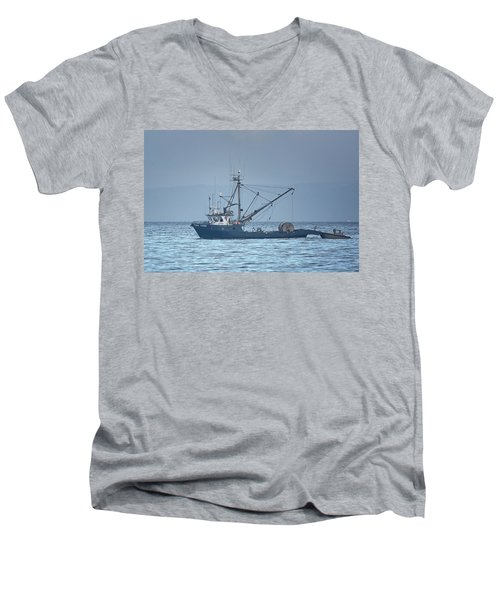 Men's V-Neck T-Shirt featuring the photograph Viking Fisher 3 by Randy Hall