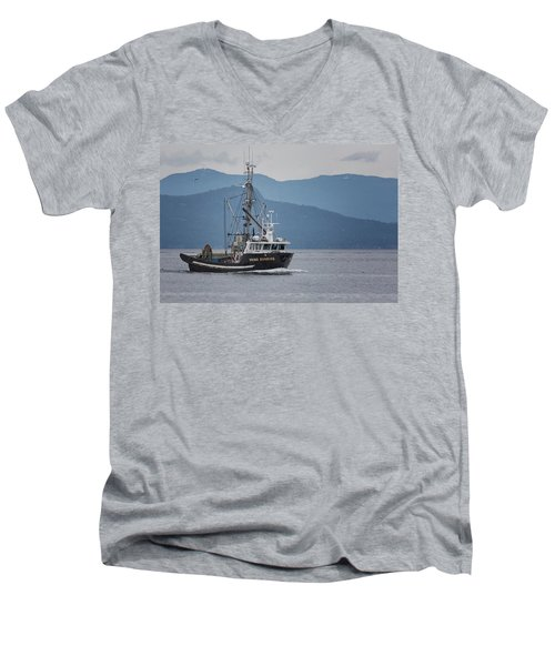 Viking Sunrise At Nw Bay Men's V-Neck T-Shirt