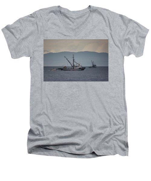 Viking Sunrise Men's V-Neck T-Shirt by Randy Hall