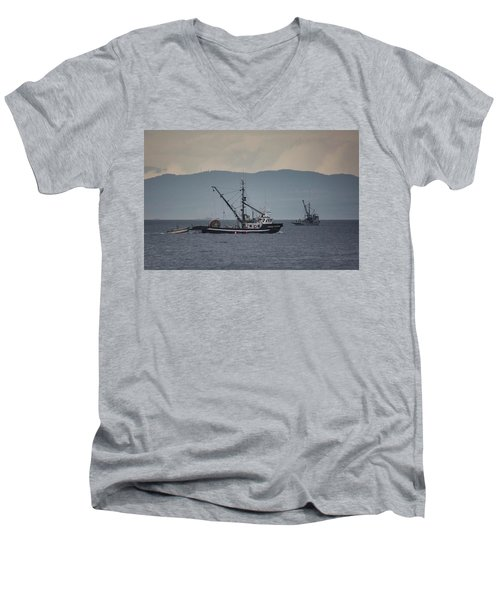 Viking Sunrise Men's V-Neck T-Shirt