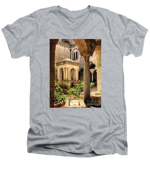 Villa Cimbrone. Ravello Men's V-Neck T-Shirt by Jennie Breeze
