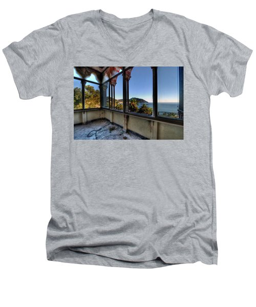 Villa Of Windows On The Sea - Villa Delle Finestre Sul Mare II Men's V-Neck T-Shirt