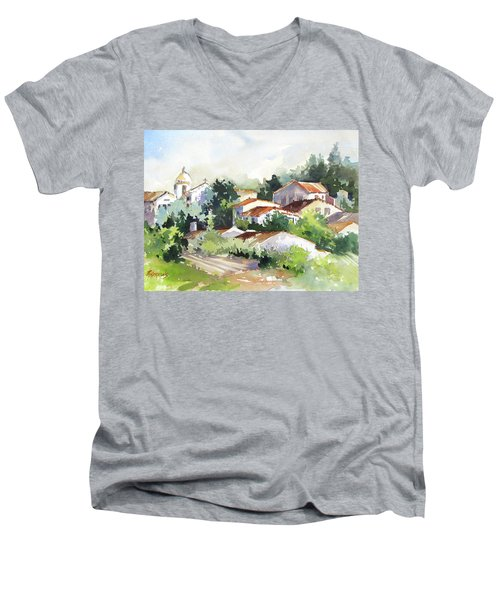 Village Life 5 Men's V-Neck T-Shirt