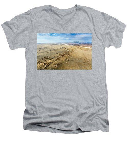 Village Toward Amu Darya River Men's V-Neck T-Shirt