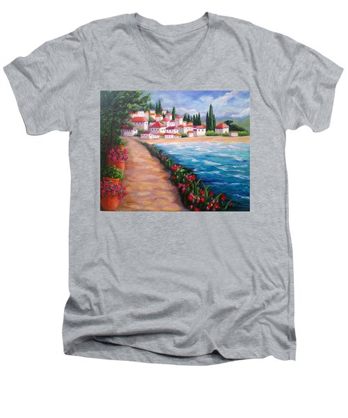 Villas By The Sea Men's V-Neck T-Shirt