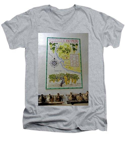 Vinedos Tio Pepe - Jerez De La Frontera Men's V-Neck T-Shirt