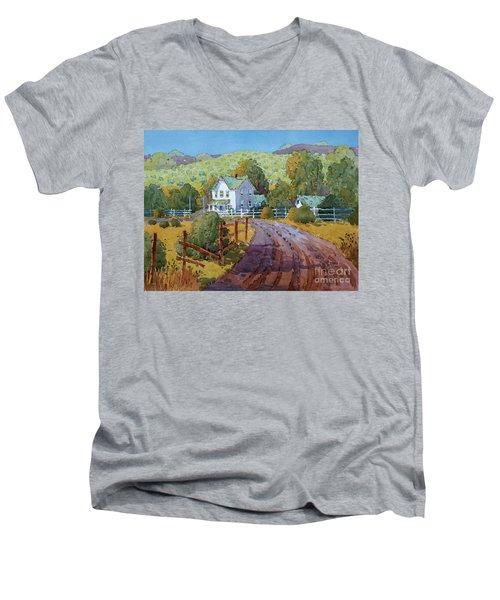 Vineyard Farm In Cambria Men's V-Neck T-Shirt