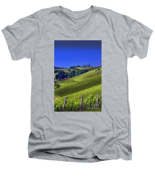 Vineyards Of Jerusalem Slovenia Men's V-Neck T-Shirt