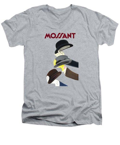 Vintage Advert Poster Mossant Men's V-Neck T-Shirt