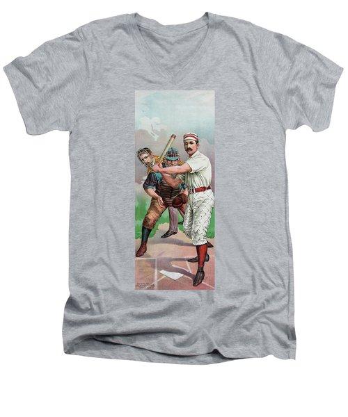 Vintage Baseball Card Men's V-Neck T-Shirt