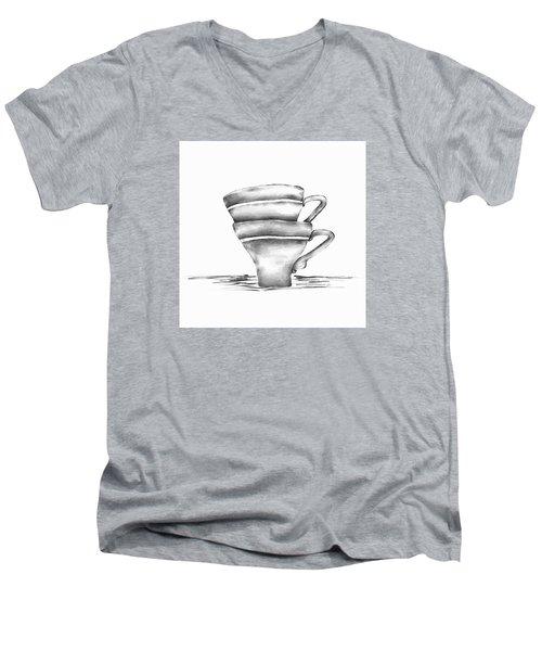 Vintage Cups Men's V-Neck T-Shirt