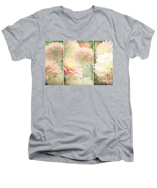Vintage Dahlia Men's V-Neck T-Shirt