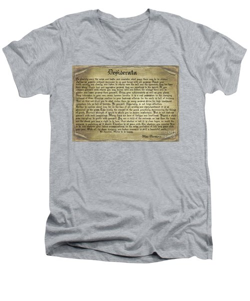 Vintage Desiderata Men's V-Neck T-Shirt