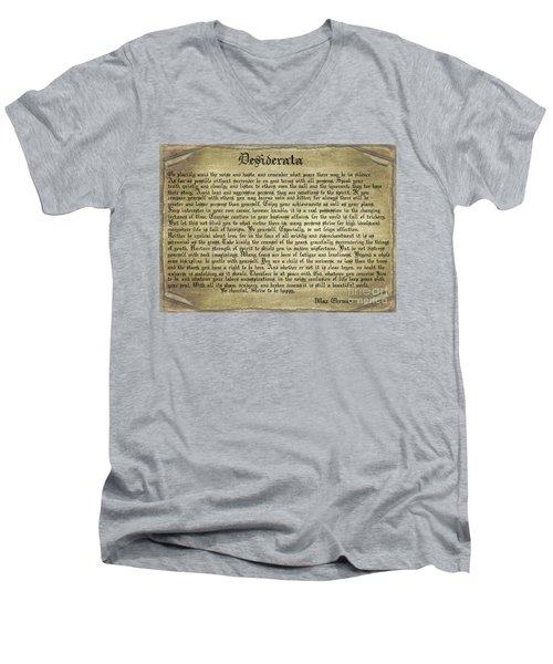 Vintage Desiderata Men's V-Neck T-Shirt