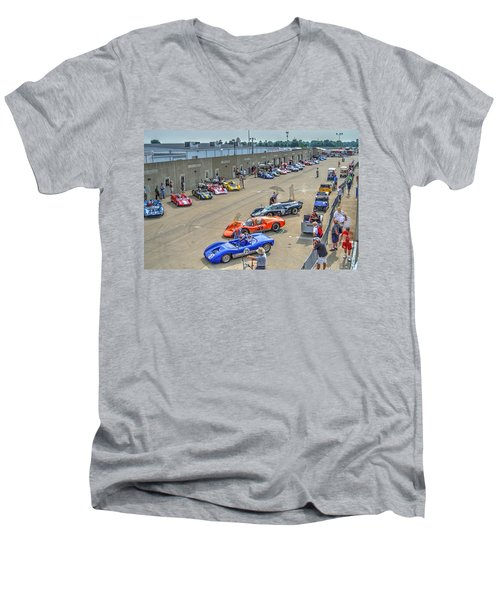 Vintage Gasoline Alley  Men's V-Neck T-Shirt