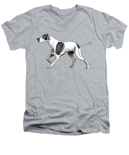 Vintage German Shorthaired Pointer Men's V-Neck T-Shirt