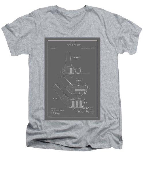 Vintage Golf Club Patent Men's V-Neck T-Shirt