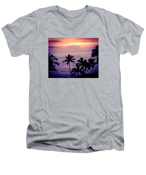 Vintage Hawaii Men's V-Neck T-Shirt by Russell Keating