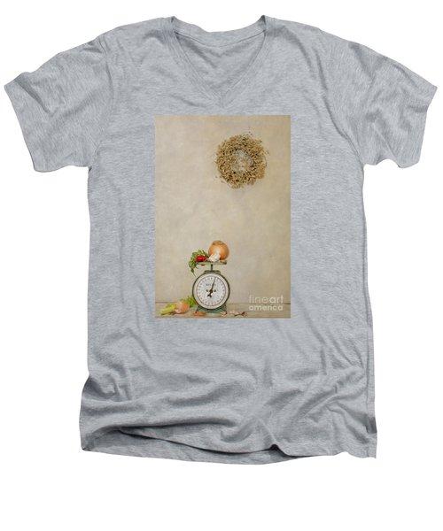 Vintage Household Scale And Vegtables Men's V-Neck T-Shirt