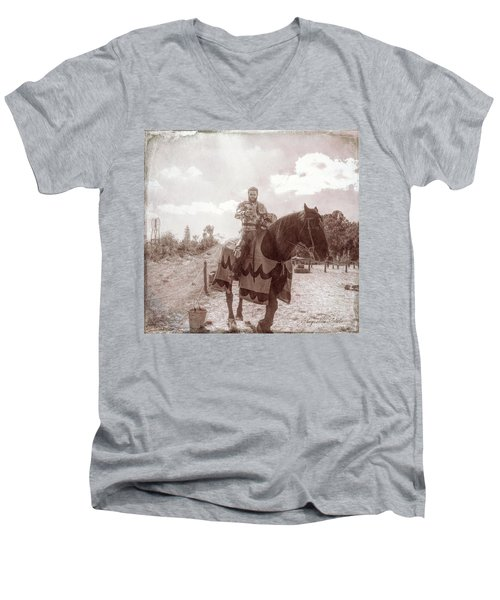 Vintage Knight Men's V-Neck T-Shirt