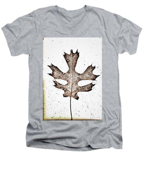 Vintage Leaf Men's V-Neck T-Shirt