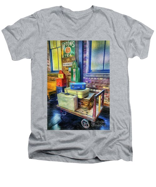 Vintage Luggage Men's V-Neck T-Shirt